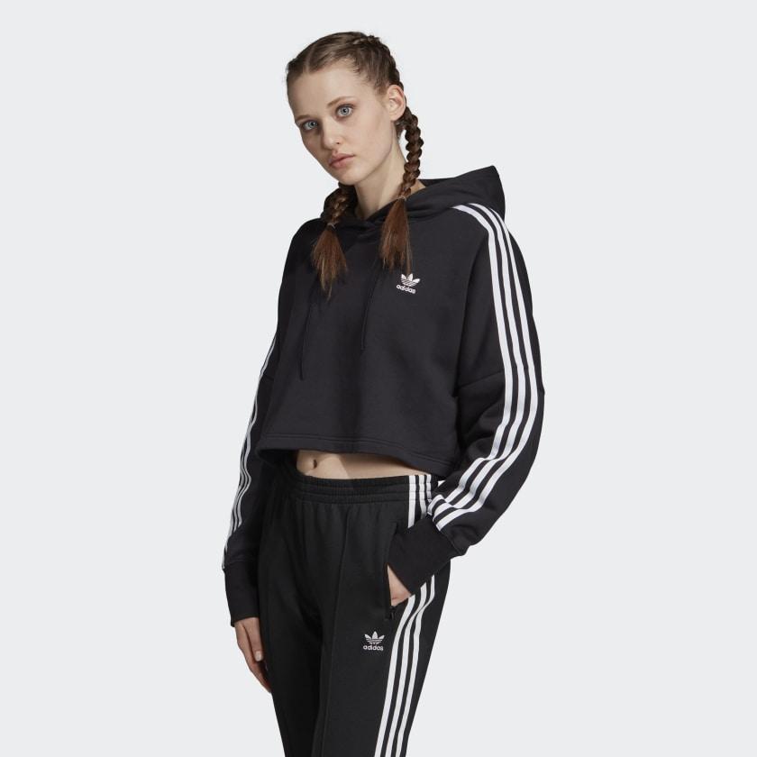 Felpa Adidas Hoodie Cropped